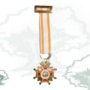 Medalla miniatura tela CRUZ ISABEL LA CATOLICA