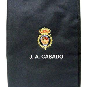 Carpeta nylon portaboletines bordada folio personalizada sin pinza emblema Cuerpo Policia
