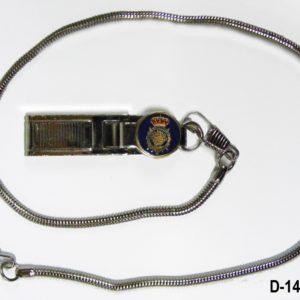 Pinza Cuerpo Policia con cadena metalica
