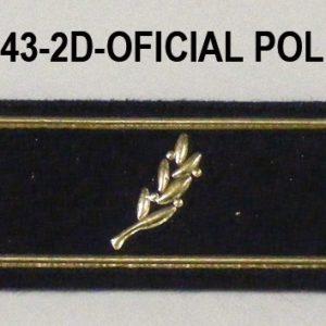 Tira de velcro/rango dorada OFICIAL POLICIA
