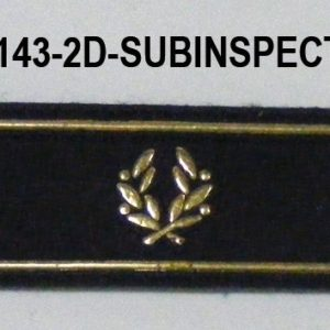 Tira de velcro/rango dorada SUBINSPECTOR