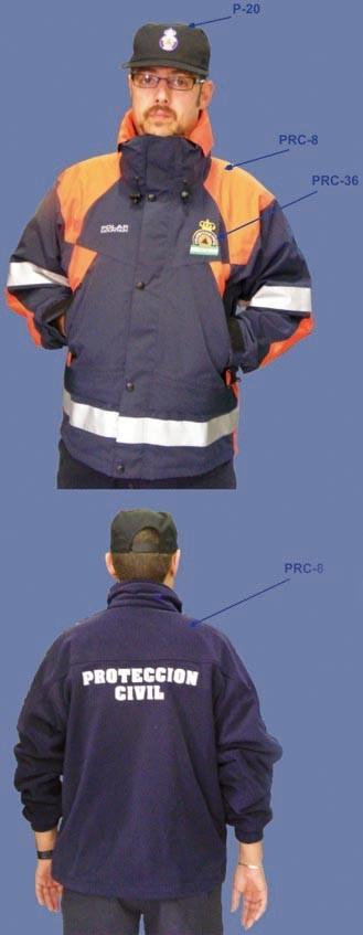 Chaquetón Protección Civil con reflectantes y foro polar interior
