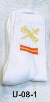 Calcetín blanco deporte con emblema