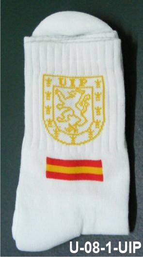 Calcetin blanco deporte con emblema UIP
