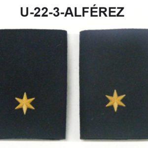 Hombreras divisa negras GRS-ALFEREZ