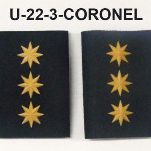 Hombreras divisa negras GRS-CORONEL