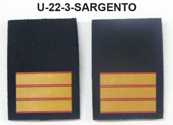 Hombreras divisa negras GRS-SARGENTO
