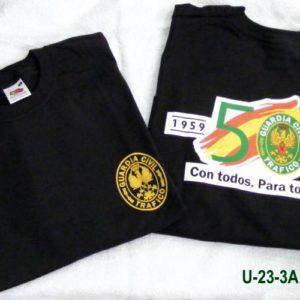Camiseta aniversario tráfico serigrafiada delante y detrás