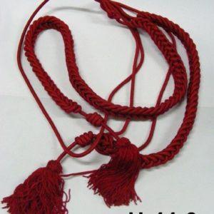 Cordones rayón rojos con borlas
