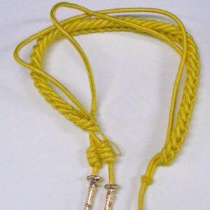 Cordon rayon amarillo sencillo niño con cabeteros