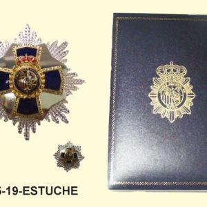 Placa XXXV DEDICACION POLICIAL (35 Años) Estuche Piel