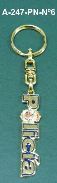 Llavero Policia Nacional Letras Metálicas Nº6