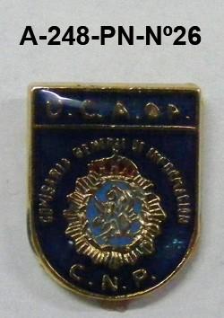 Pin Cuerpo Policia Nº 26