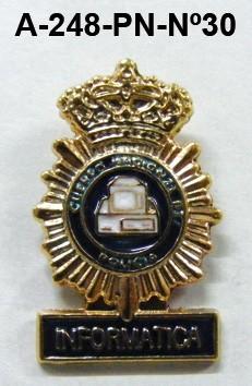 Pin Cuerpo Policia Nº 30