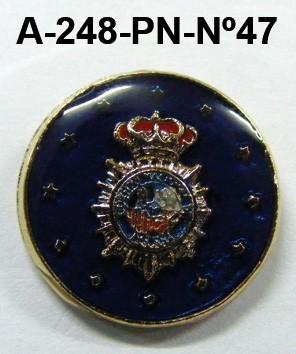 Pin Cuerpo Policia Nº 47