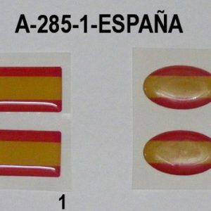 Pegatina bandera España mediana 2 unds.