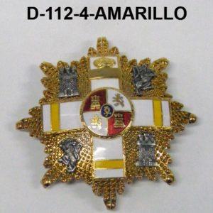Gran Placa MERITO MILITAR Distintivo AMARILLO