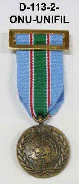 Medalla ONU UNIFIL-LIBANO