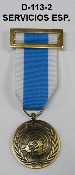 Medalla ONU SERVICIOS ESPECIALES