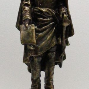 Figura color bronce DUQUE AHUMADA PEQUEÑA 30x8x8cm. Aproximadamente