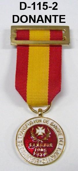 Medalla DONANTE de SANGRE