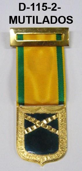 Medalla MUTILADOS DISTINTIVO AMARILLO