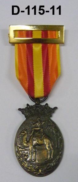 Medalla Ifni Sahara Bronce