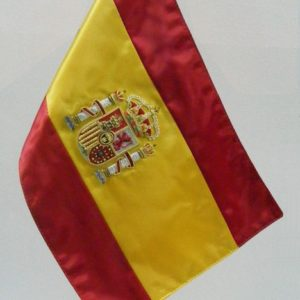 Bandera sobremesa Bordada mastil madera-metal