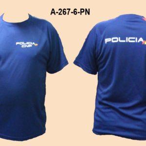 Camiseta Policia Nacional con Bandera España TRAZOS hombro