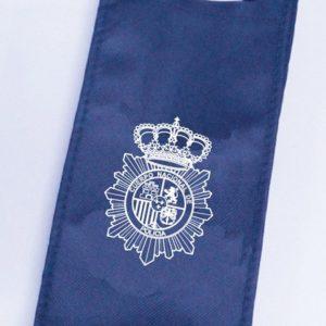 Bolsa TELA Emblema Cuerpo Policia Nacional para Botella de Vino