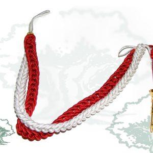 Cordon Rayon Rojo/Blanco Oficial/suboficial Cabetes