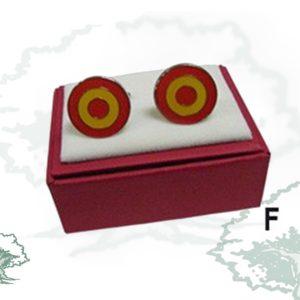 Gemelos de Rodio Bandera de España