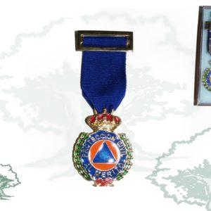 Medalla PROTECCION CIVIL AZUL ORO