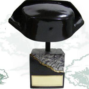 Busto Tricornio negro con grabación INCLUIDA