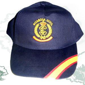 Gorra bandera de España Emblema y Laurel Guardia Civil Bordada