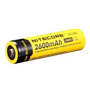 Batería Li-ion 18650 2600mAh Nitecore