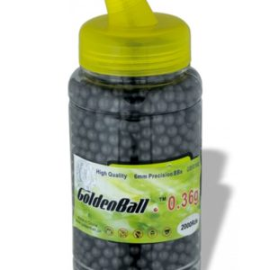 Bola de plástico AIRSOFT GOLDEN BALL INVISIBLES 2000 unidades 0.36 g