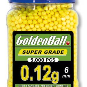 Tarro Bolitas de PVC para armas airsoft Golden Ball 6 mm 0.12 gr con 5000 bolitas