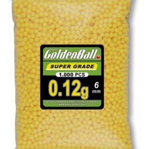 Bolsa con Bolitas de PVC para armas airsoft Golden Ball 6 mm 0.12 gr con 1000 bolitas