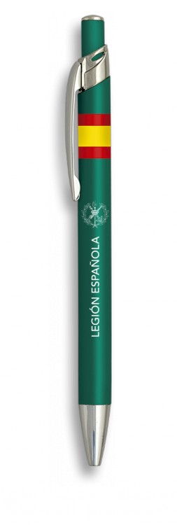 Boligrafo Legion española aluminio color verde
