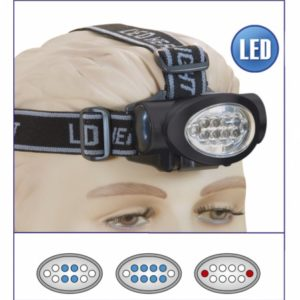 Linterna Frontal 10 LED. 3 x AAA