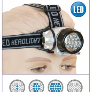 Linterna Frontal 18+2 led.3 x AAA
