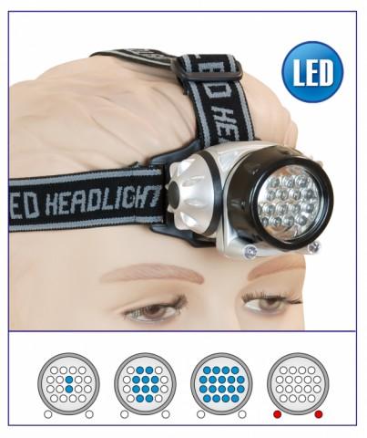 Linterna Frontal 18+2 led.3 x AAA