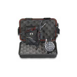 Reloj Negro + Alicate regalo set caja completo