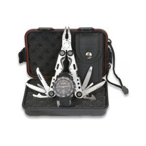 Reloj Negro + Alicate set con caja regalo