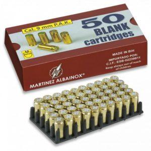 Detonantes ALBAINOX. 9 mm.Latón. Caja 50
