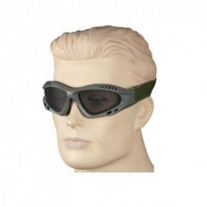Gafas de rejilla verde oscuro. ajustable