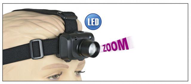 Linterna FRONTAL ALBAINOX ZOOM.3W.3Func.