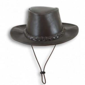 Sombrero de piel con cinta. Talla M
