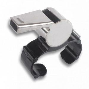 Silbato metalico con subjeccion dedos.
